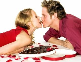 шоколад и поцелуй